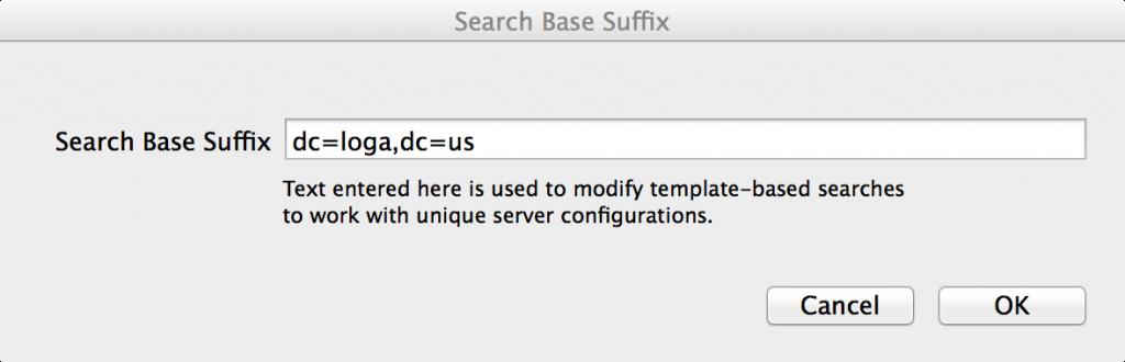 Search Base Suffix