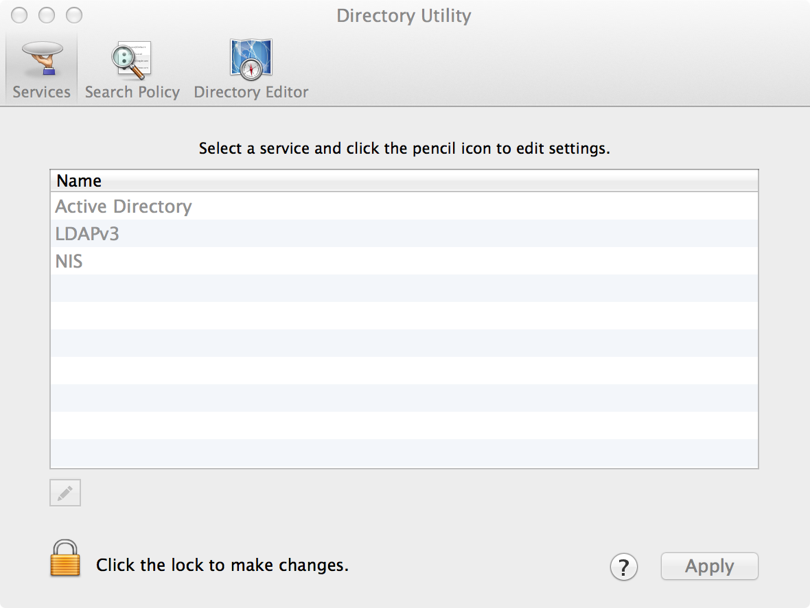 Directory Utility