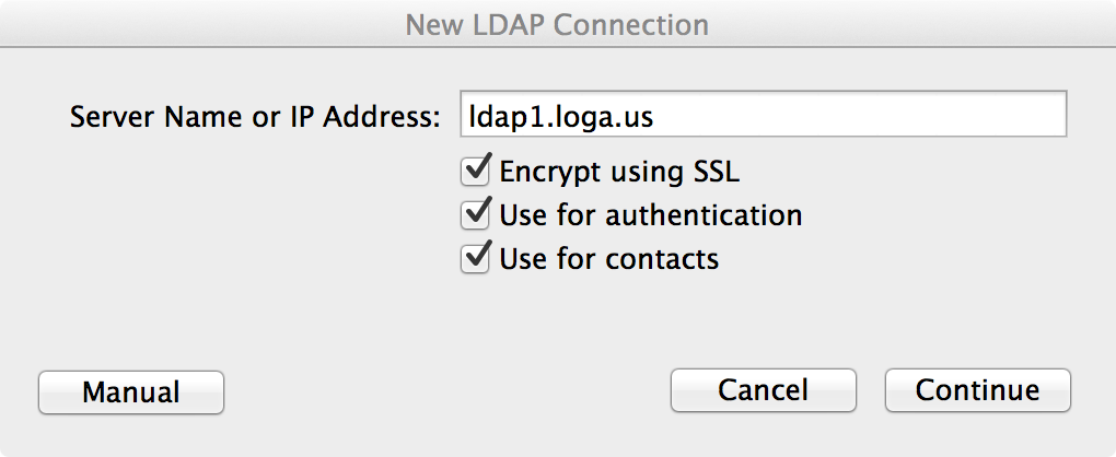 New LDAP Connection