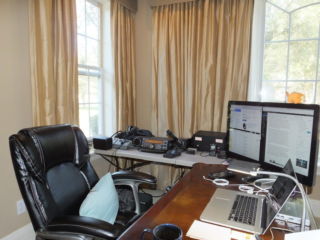 Ham Radio Desk in my Home Office – loga.us